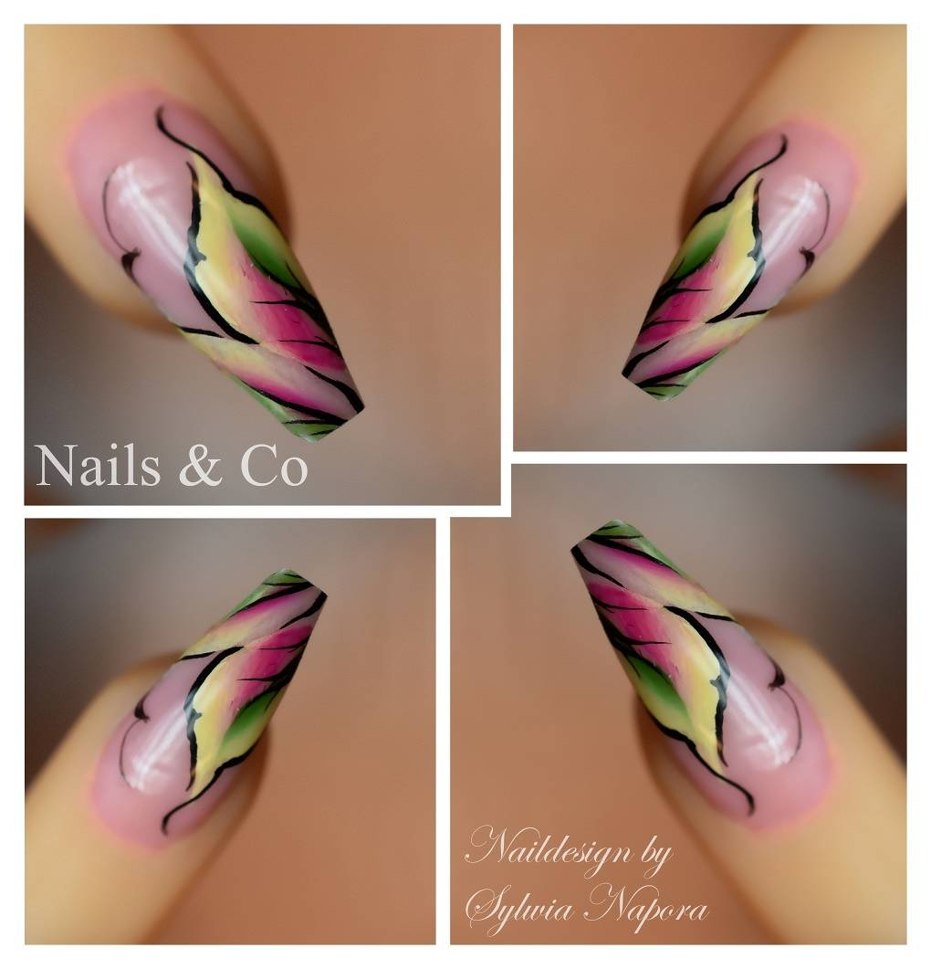 One Stroke Nail Art, One Stroke Nail Painting, Nagelstudio Kaarst