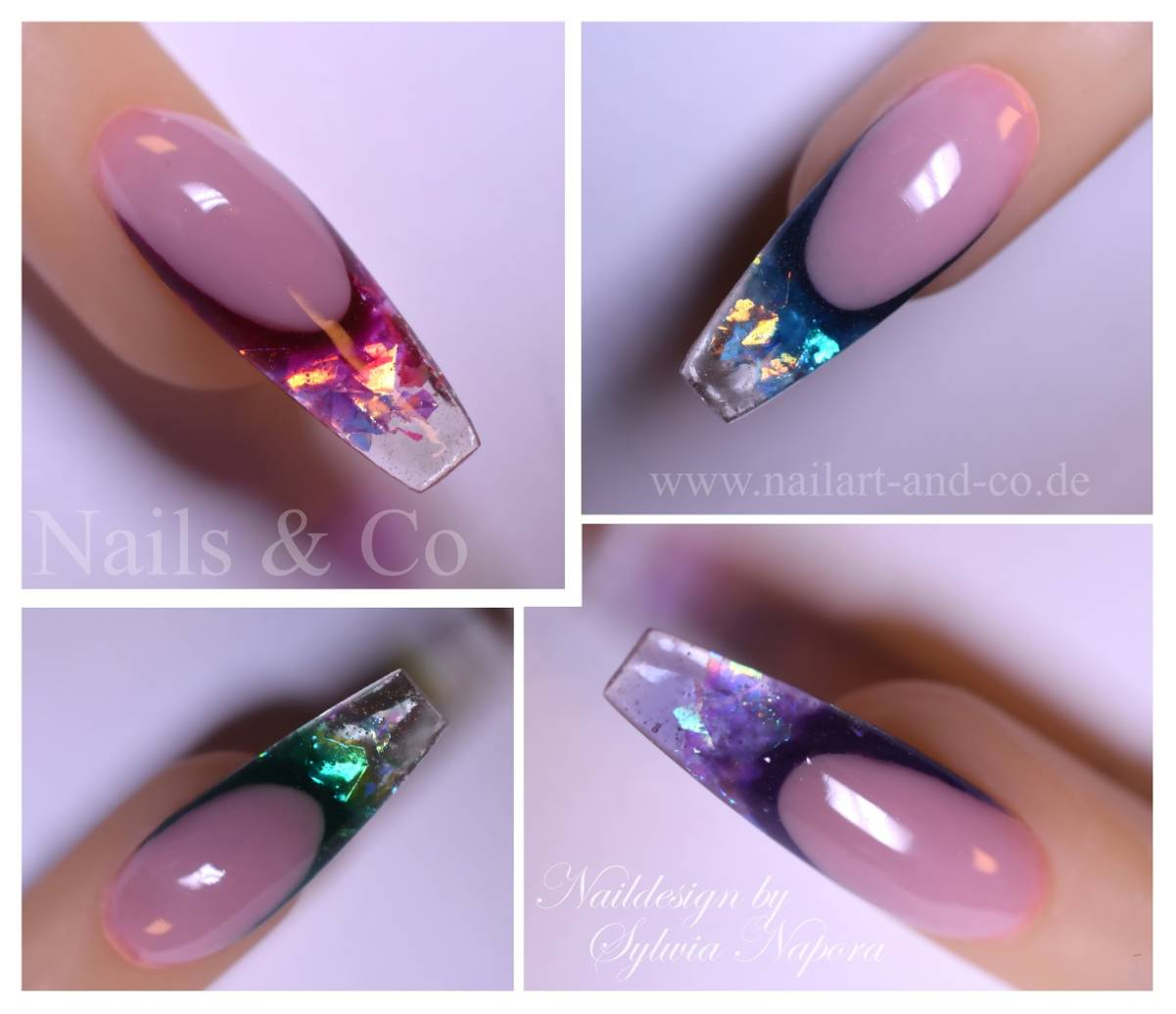 French Modellage, Fire & Ice Nails